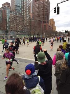 Look at the runners go! WOOOOO!